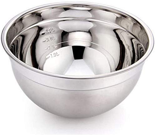 LSLY Bowls & Servers 304 Stainless Steel Basin Mixing Basin Round Soup Basin Thicker Baking Salad Pots for Family Kitchen