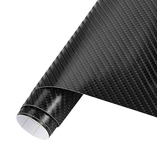 IWILCS pellicola in carbonio per auto, 30 x 150cm 3D Pellicola Adesiva Carbonio Adesiva, Foglio Pellicola in Fibra di Carbonio autoadesiva per auto e moto fai da te