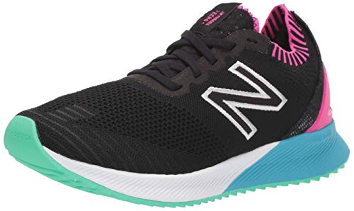 New Balance Women's FuelCell Echo V1 Sneaker, Black/Pink/Blue, 8.5 M US