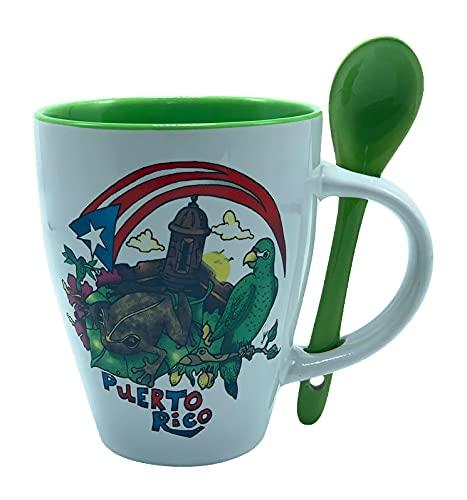 Puerto Rico Coffee Mug Cotorra Green #60