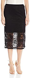Kensie Women's Rib Lace Skirt