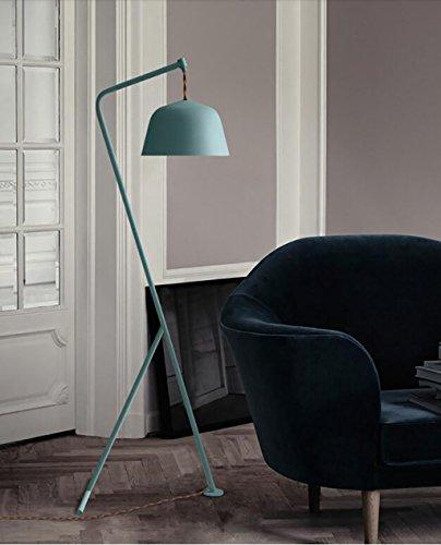 FAFZ hoofdlamp staande lamp werkkamer slaapkamer creatieve Macaron vloerlamp gevlochten patroon vintage vloerlamp verticaal