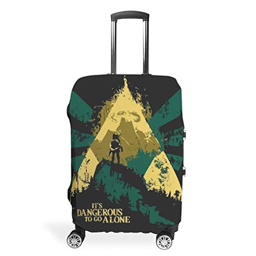 Zelda Suitcase Protector Durable Washable Fits 18-32 Inch for Wheeled Suitcase Over Softsided Game White 19-21in