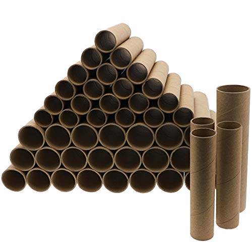 Bright Creations Brown Paper Cardboard Craft Tube Rolls (50 Pack)