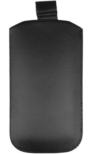 mumbi Tasche Huawei Ascend Y200 Leder Hülle Etui - Lasche mit Ausziehhilfe - 3