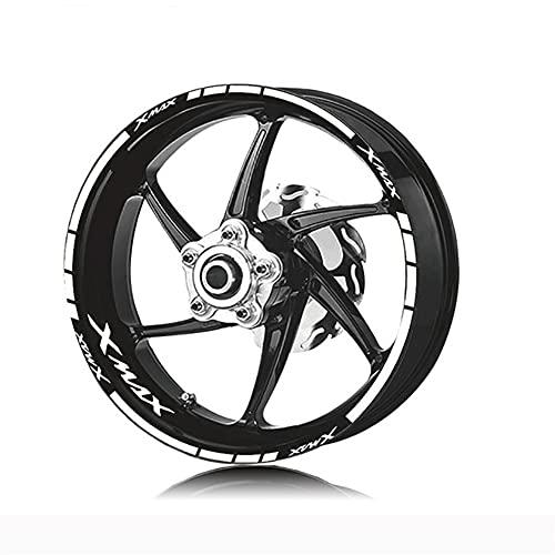 DFSD Pegatinas para Rueda De Motocicleta Pegatinas Reflectantes Impermeables, Pegatinas para Neumáticos, para YA&MAHA Xmax,B