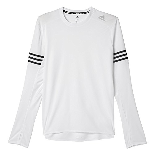 adidas Oberbekleidung Response Long Sleeve Men Langarm Shirt, White/Black, L