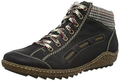 Rieker Damen L7543 Hohe Sneaker, Schwarz, 38 EU