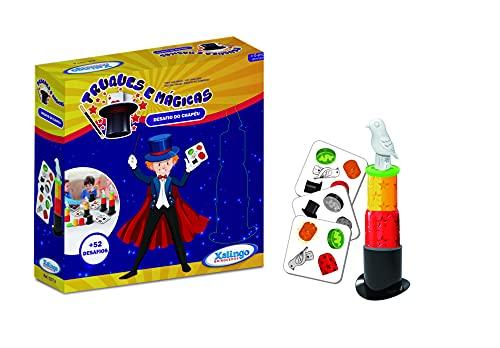 Brinquedo Truques e Mágicas Desafio do Chapéu 52 Desafios Xalingo - 1377.6