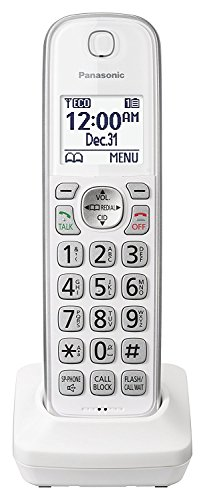 Panasonic KX-TGDA50W1 Dect 6.0 Digital Additional Cordless White Handset for KX-TGD53x Series (Renewed)