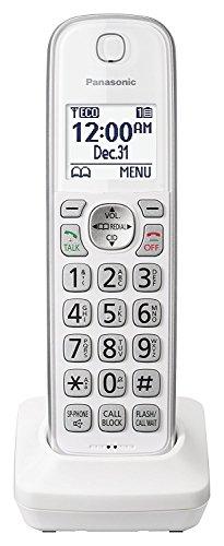 Panasonic KX-TGDA50W1 Dect 6.0 Digital Additional Cordless White Handset for KX-TGD53x Series...