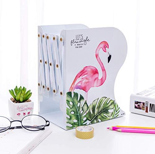 Einziehbare Buchstütze Flamingo/verstellbare Schreibwaren Büro Aufbewahrung Bücherregal Student Learning liefert tragbare Bücherständer