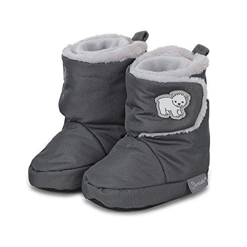Sterntaler Jungen Baby Stiefel mit Klettverschluss, Farbe: Eisengrau, Größe: 17/18, Alter: 6-9 Monate, Artikel-Nr.: 5101803