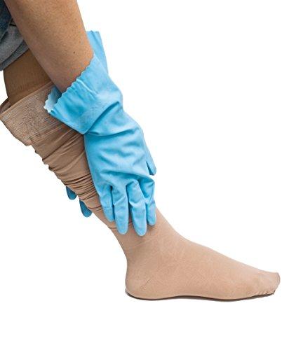 COMPRESSANA Grip - Spezial-Handschuhe zum Anziehen von Stütz- und Kompressionsstrümpfen - Größe IV - von 8,8 bis 9,8 cm Handbreite