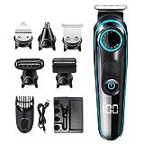 Mankoo Afeitadora Eléctrica, Set para El Cuidado De La Barba para Hombres con Recortadores De Barba Y Vello Corporal, Afeitadora Híbrida, Afeitadora para Afeitarse