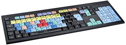LogicKeyboard LKB-CBASE-APBH-DE Cubase/Nuendo Astra deutsches (PC/Slim) Tastatur schwarz/bunt