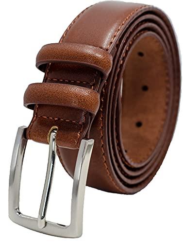 Ashford Ridge Cintura in pelle doppia fibbia da uomo 33mm Marrone XXL