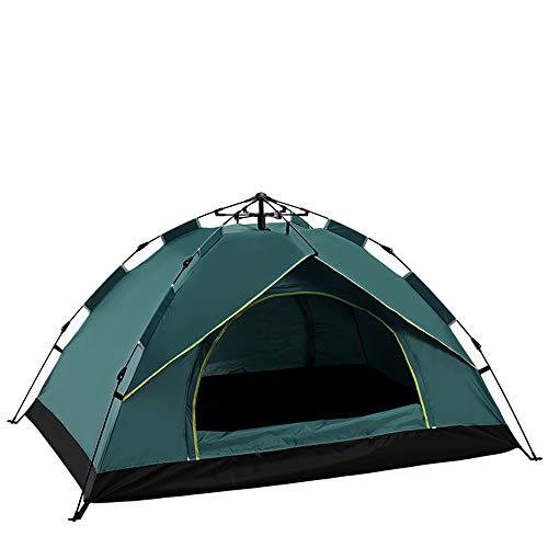 JHO Tec Campingzelt Zelt für 2 oder 3-4 Personen Pop Up Kuppelzelt Outdoor (Grün, 210 * 150 * 130)