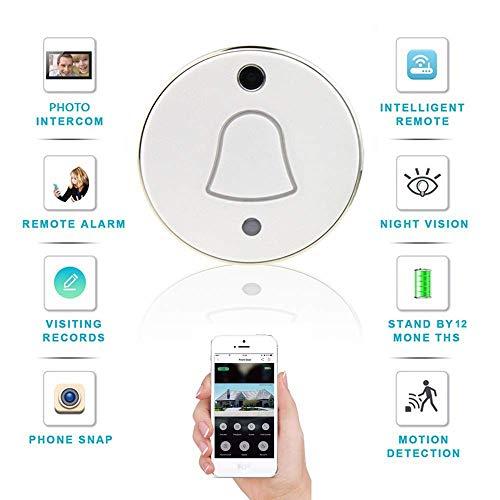 Intelligente video deurbel, 90deg;groothoek HD WIFI Security Camera, cloud storage mobiele telefoon op afstand cat eye deurbel for binnen en buiten HAOSHUAI