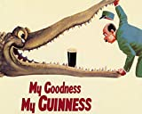 Uptell My Goodness Guinness Metal Wall Sign 12x16 inch Plaque Vintage Retro Sign Art Picture Print