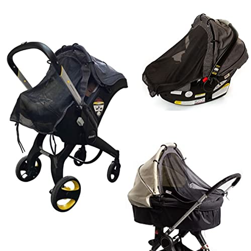 Sun Shade for Infant Car Seats and Strollers (Regular Size). Universal Adjustable Sunshade with See Through. Your Baby Will See The World and Will Be Protected. by IntiMom