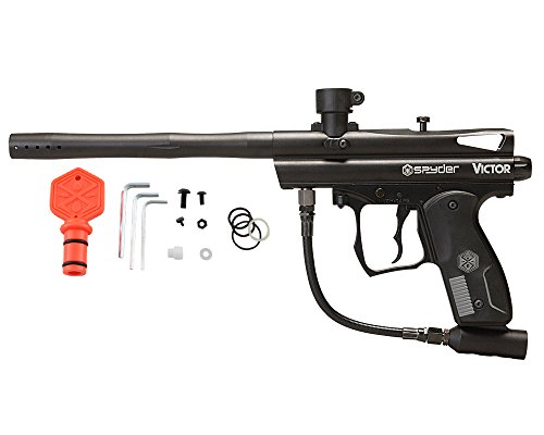 Spyder Victor Semi-Auto Paintball Marker with Extended Warranty (Matte Black)