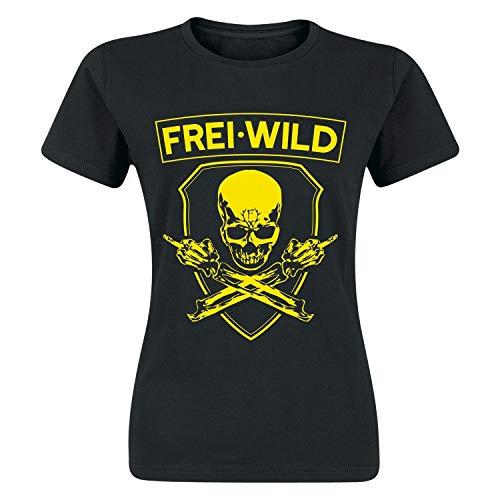Frei.Wild - Rivalen & Rebellen/Skull Girl-Shirt, Farbe: Schwarz, Größe: L