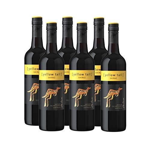 Yellow Tail Shiraz – Halbtrockener, aromatischer Rotwein aus Australien (6 x 0.75l)