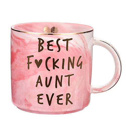 Tante Gifts from Niece, Nephew – Best Aunt Ever lustiges Geschenk für Tanten BAE Geschenke zum Geburtstag Tolle Süße Lieblingstante Tasse Keramik 326 ml Kaffeetasse