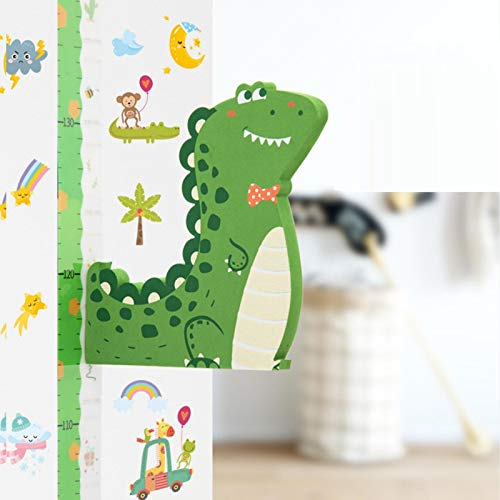 HHIAK666 3D Stereo Cartoon Height Sticker,Baby Measuring Growth Height Rod,Magnetic Removable Chart Ruler,For Kids Kindergarten Bedroom Living Room Decoration Red bow tie dinosaur