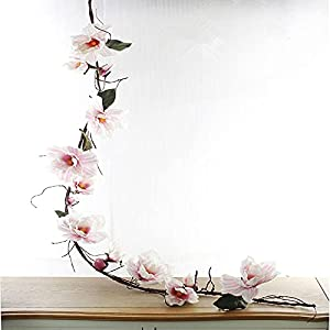 Silk Flower Arrangements Artificial and Dried Flower 185cm Artificial Magnolia Flower Branch Silk Azaleas Flower Foaming Branches for Home Wedding Decoration Fake Flower Floral - ( Color: White )