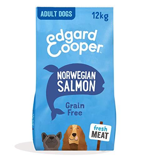 Edgard & Cooper Droog Hondenvoer voor Volwassen Honden met Verse Noorse zalm - Graanvrij en Boordevol vers vlees - Grote Brok (12 kg)