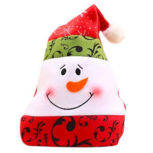 Vxhohdoxs - Gorro de Navidad unisex, diseo de mueco de nieve, color azul y blanco B