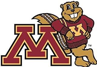 2 inch Goldy Gopher UMn University of Minnesota Golden Gophers Logo Removable Wall Decal Sticker Art NCAA Home Room Decor 2 x 1 1/2 inches