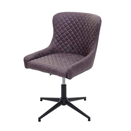 Bürostuhl HWC-H79, Schreibtischstuhl Drehstuhl, höhenverstellbar Vintage Metall ~ Stoff/Textil dunkelgrau