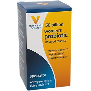 Women's Probiotic Delayed Release 50 Billion with 10 Probiotic Strains to Support Digestive, Immune Vaginal Health or Yeast Imbalance Shelf Stable (60 Veggie Caps) by The Vitamin Shoppe