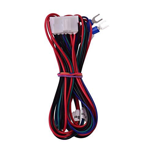 Adaskala Hotbed Wire (20AWG) Beheiztes Bettkabel für A8 Plus E16 3D-Drucker Upgrade Lieferanten Zubehör Länge 90 cm