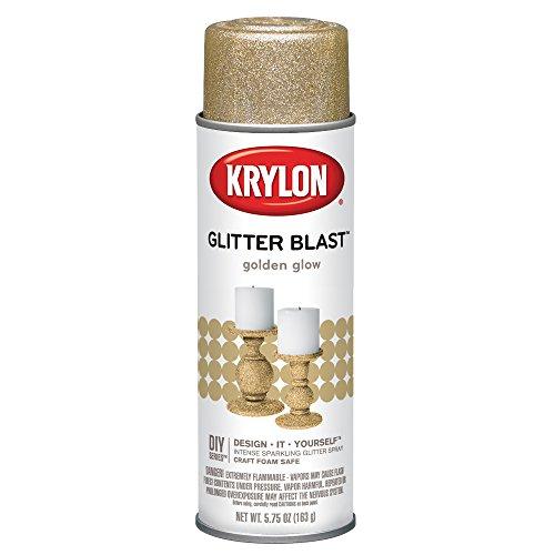 Krylon K03801A00 Glitter Blast Glitter Spray Paint for Craft Projects, Golden Glow, 5.75 oz