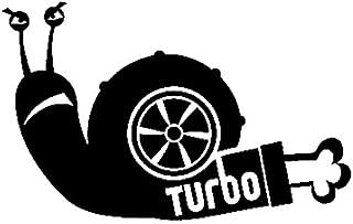 Personalized car stickers Curiosamente turbo caracol de vinilo etiquetas engomadas del coche de Car Styling 12.8cmx8cm csfssd (Color : Black)