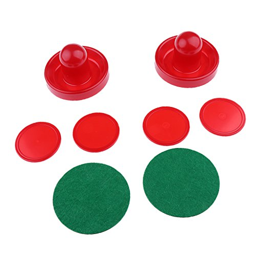 %47 OFF! Pack of Two Air Hockey Pushers Strikers Goalies and Four Pucks Three Sizes - Red, M