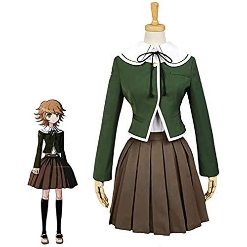 Anime Danganronpa Utsugi Kotoko Hecho JK Vestido de La Escuela De Cosplay Costumbre Diaria Trajes Uniforme de Vestuario con Accesorios para Carnaval Exposicin,Verde,M