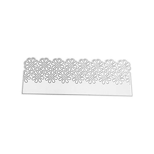 Lazzboy Metal Die Stencil Cutting Dies Paper Card Arts Hand Craft Decorative for Sizzix Big Shot/Other Machines(D, Floral Lace)