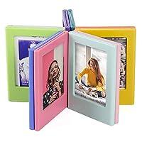 ミニフィルムフォトフレーム、カラフルな両面磁気冷蔵庫の額縁、マグネット子供用アートワークフレーム。