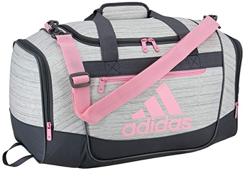 adidas Defender III Small Duffel, Two Tone White/True Pink/Onix, Small