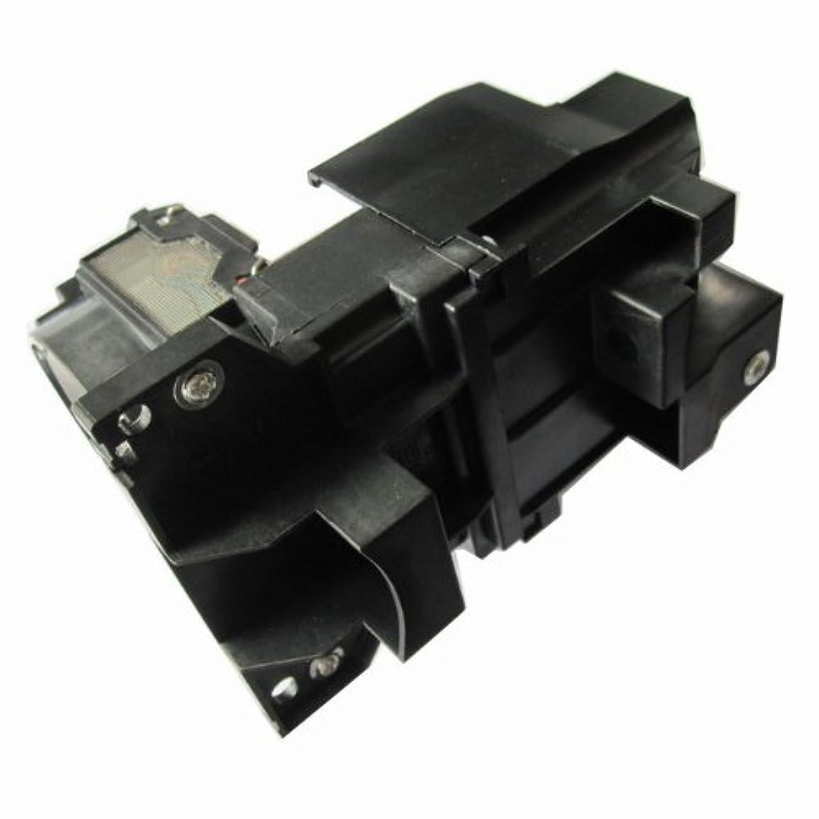 剥離暴君感謝祭LCD3LCDプロジェクター交換用ランプバルブモジュール Dukane 456-8760用 ハウジングケージ付き