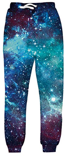 LKJDIE Men Women 3D Casual Active Sports Joggers Pants Trousers Sweatpants Galaxy-3 S