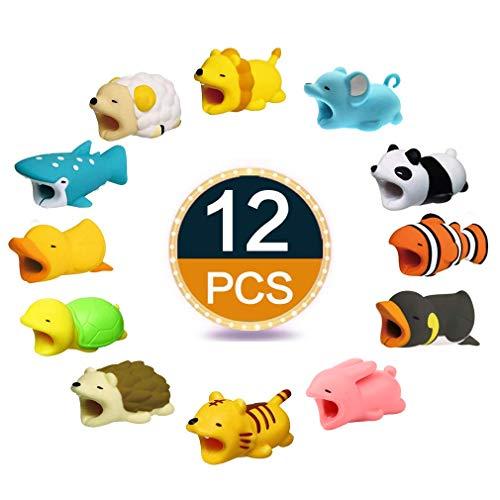 TOPADORER 12 PCS Protection pour Câbles Accessoire de Téléphone Iphone Câble,Protecteur USB Câble Portable Téléphone Chargeur Cordon
