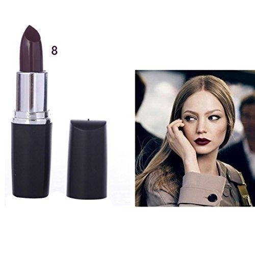 Pintalabios, Bluestercool Vampiro Estilo 8 colores Impermeable Barra de Labios Maquillaje Profesional Lápiz Labial de Larga Duración para Halloween (8)