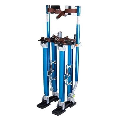"""Yescom Drywall Stilts 24""""-40"""" Aluminum Tool Stilt for Painting Painter Taping Blue"""
