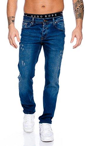 Rock Creek Herren Jeans Hose Blau RC-2098 [W44 L38]